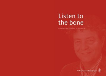 Listen to the bone - PAOT UMC St Radboud