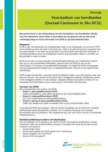Voorstadium van borstkanker (Ductaal Carcinoom In Situ ... - Zuwe