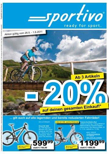 Ab 3 Artikeln - 20% auf deinen gesamten Einkauf! - Sportivo