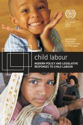 Modern policy and legislative responses to child labour