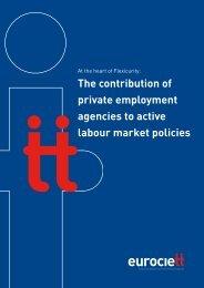 Active labour market policies - Eurociett
