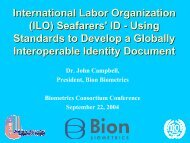 International Labor Organization (ILO) Seafarers' ID - Using ...