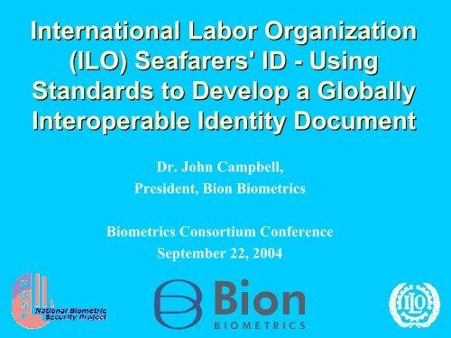 International Labor Organization (ILO) Seafarers' ID - Using ...