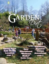2011 Children's Summer Camps Announced Spring Plant Sale ...