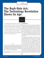 The Bayh-Dole Act: The Technology Revolution Shows its Age