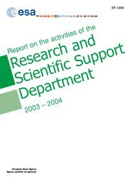 Research and Scientific Support Department - ESA