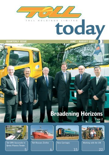 Broadening Horizons Broadening Horizons - TOLL Group