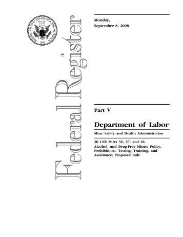 Mine Safety and Health Administration (MSHA) - FedReg Doc. E8 ...