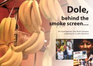 Dole, behind the smoke screen... - Make fruit fair