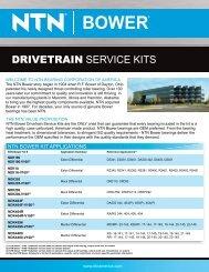 DRIVETRAIN SERVICE KITS - NTN Bearing