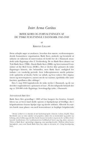 Inter Arma Caritas - Historisk Tidsskrift