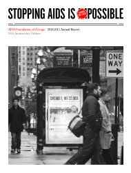 to view/print PDF Annual Report - AIDS Foundation of Chicago