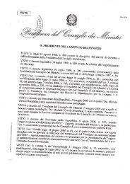 Scarica il decreto concernente la nomina dei componenti - Enit