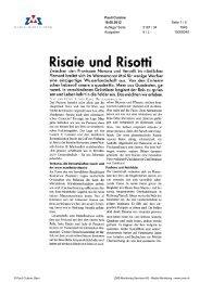 Risaie und risotti, Pauli Cuisine, 18. August 2012 - Enit