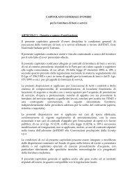 CAPITOLATO GENERALE D'ONERI - Enit
