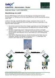 GSM/GPRS – Alarmmodem - Router Standleitung via LobiX - E-Plus