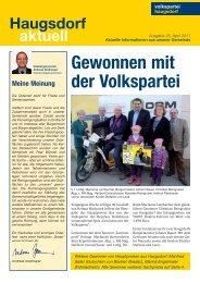 Haugsdorf April2011.indd - Haugsdorf - Volkspartei Niederösterreich