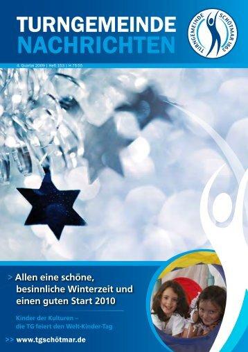 Heft 153 / 4. Quartal 2009 - Turngemeinde Schötmar von 1863 e.V.