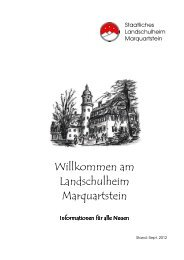 Info fur Neue - Band I - Stand Sept. 2012 - LSH Marquartstein