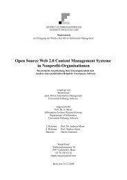 Open Source Web 2.0 Content Management Systeme in ... - DiUF