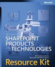 Microsoft Sharepoint Products and Technologies Resource Kit eBook