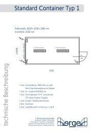 Standard Container Typ 1 - erge Raumsysteme GmbH