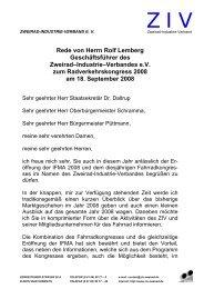 Rede von Herrn Rolf Lemberg Geschäftsführer des Zweirad ...