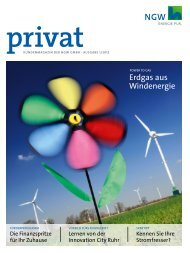 Kundenmagazin privat, Ausgabe 1/2012 (PDF 4 MB - ngw