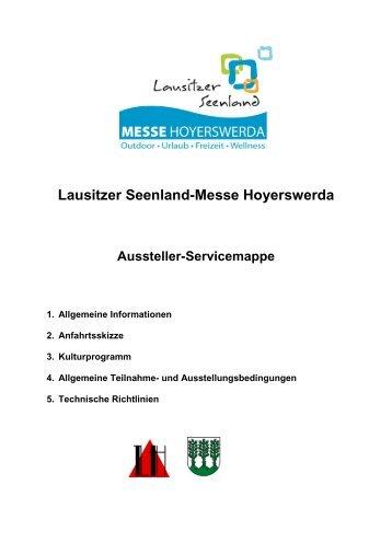 Aussteller-Servicemappe - Lausitzer Seenland-Messe Hoyerswerda