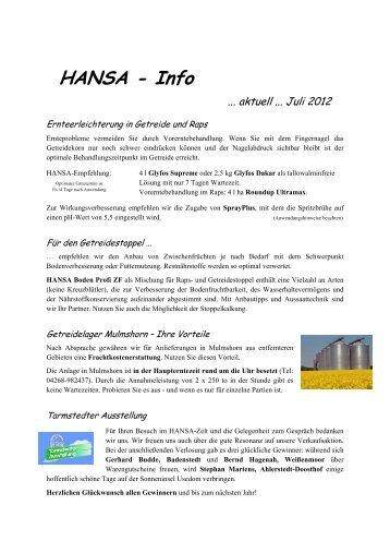 Rundschreiben 2 Juli 2012 - HANSA Landhandel