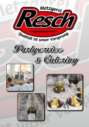 Partyservice & Catering - Metzgerei Resch