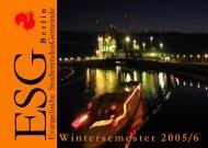 Wintersemester 2005/06 - ESG Berlin