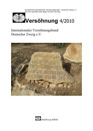 Rundbrief 4/2010 - Internationaler Versöhnungsbund