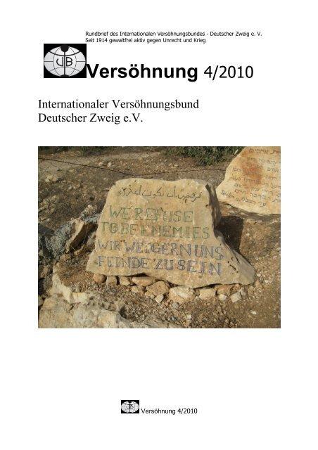 Rundbrief 4/2010 - Internationaler Versöhnungsbund