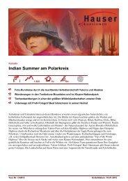 Indian Summer am Polarkreis - Hauser exkursionen