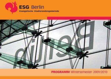 Wintersemester 09/10 - ESG Berlin