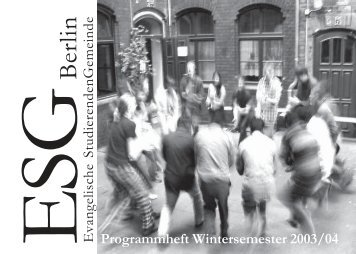 Wintersemester 2003/04 - ESG Berlin