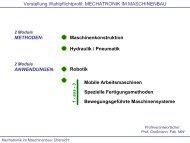 Vorstellung Wahlpflichtprofil: MECHATRONIK IM MASCHINENBAU ...