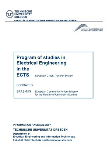 ECTS-catalogue Electrical Engineering - Fakultät Elektrotechnik und ...