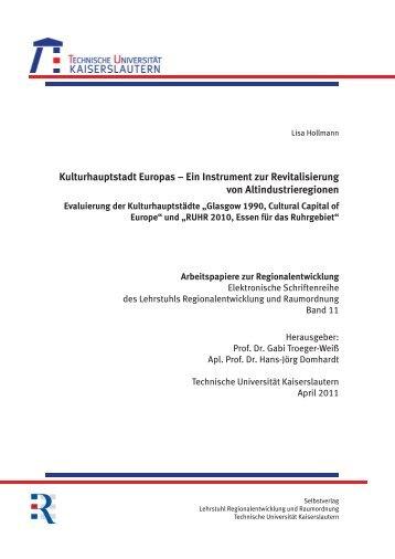 Kulturhauptstadt Europas - Universität Kaiserslautern