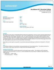 Neurofilament NF-L Monoclonal Antibody (MMS-584S) - Eurogentec