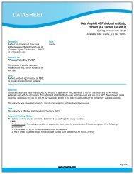Beta Amyloid 40 Polyclonal Antibody, Purified IgG ... - Eurogentec