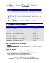 SensoLyte Green SIRT1 Assay Kit - Eurogentec