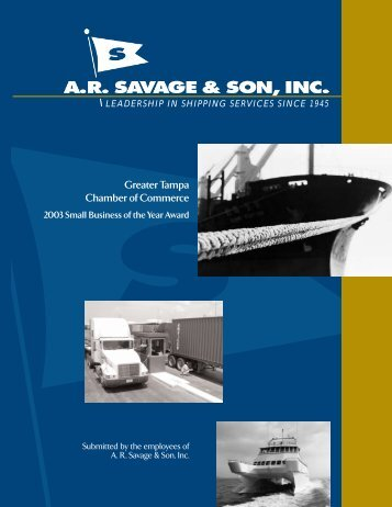 Greater Tampa Chamber of Commerce - 2003 ... - AR Savage & Son