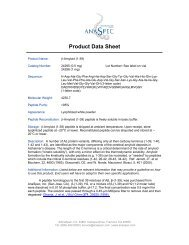 Product Data Sheet - Eurogentec