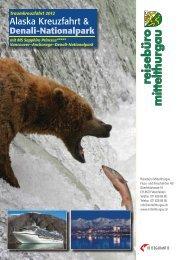 Alaska Kreuzfahrt - Reisebüro Mittelthurgau Fluss- und Kreuzfahrten ...