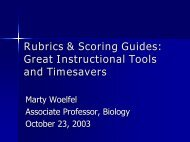 Rubrics & Scoring Guides: Great Instructional Tools and Timesavers
