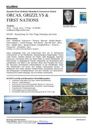 ORCAS, GRIZZLYS & FIRST NATIONS - Kuoni