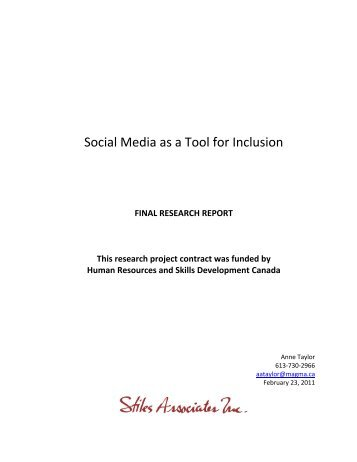 Social Media as a Tool for Inclusion - The Homeless Hub