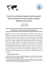 Financial Crises as Catalysts for Regional Financial Cooperation